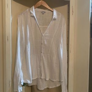 Lucky brand white tunic top, Size XL